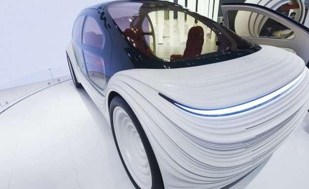 O carro futurista que 'come' poluição