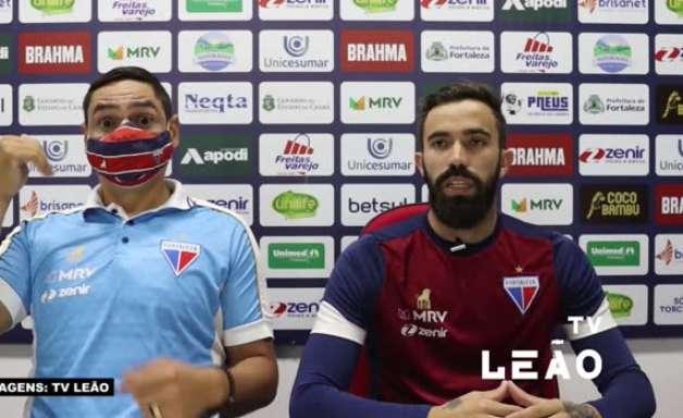 """FORTALEZA: Matheus Vargas comenta sequência de quatro jogos sem vencer: """"Sabíamos que uma hora isso poderia acontecer"""""""