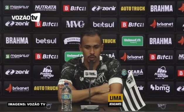 """CEARÁ: Lima reconhece sentimento especial em seu primeiro confronto contra o Grêmio, mas defende: """"Darei meu máximo pela vitória"""""""