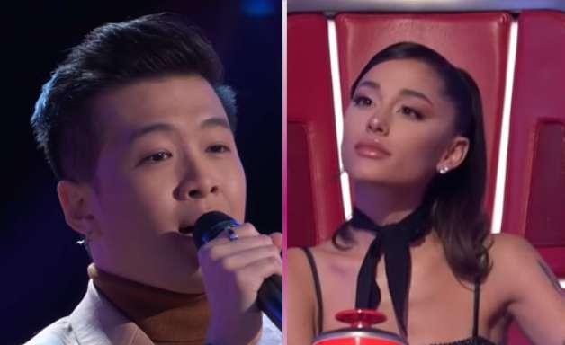 Ariana Grande vira a cadeira em primeira audição às cegas do The Voice USA