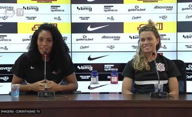 """CORINTHIANS: Yasmin resalta bom ambiente vivido pelo time e sobre descontração: """"70% da equipe é palhaça"""""""
