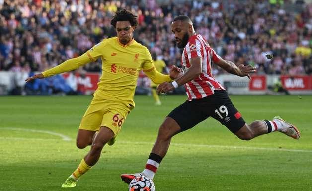 Em belo jogo, Liverpool empata com o Brentford por 3 a 3