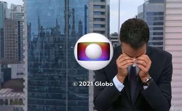 César Tralli chora ao se despedir do 'SP1'
