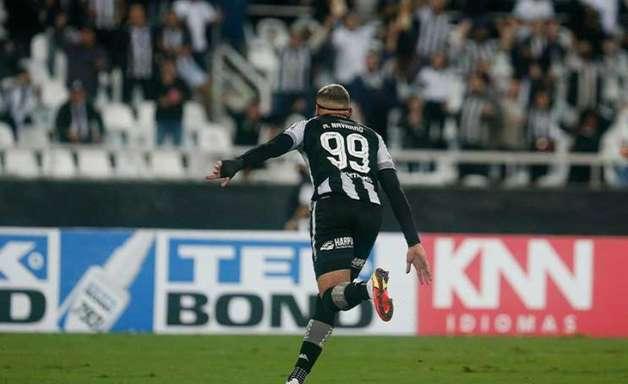 Navarro resolve, marca dois e Botafogo vence o Brusque