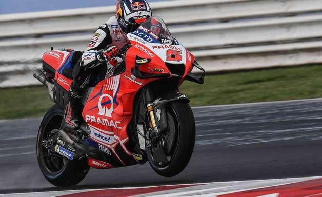 Zarco comanda com folga treino 1 da MotoGP na chuva de Misano. Quartararo é só 18º