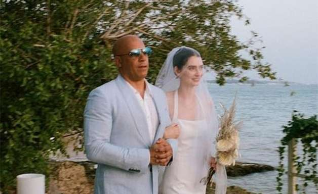 Filha de Paul Walker se casa e entra no altar com Vin Diesel