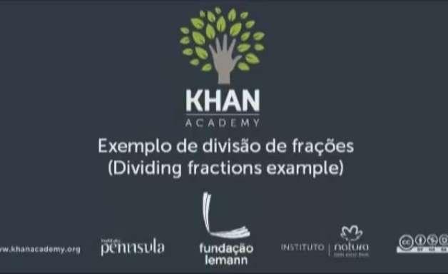 Exemplo de divisão de frações
