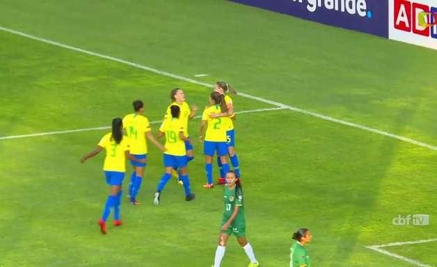 Brasil goleia a Bolívia por 7 a 0 na Copa América Feminina
