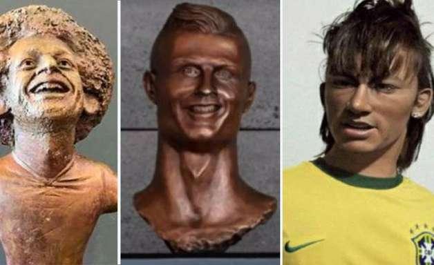 As piores esculturas de celebridades do esporte