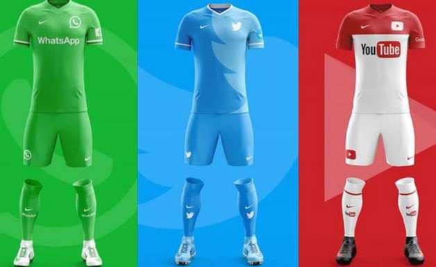 Veja como seriam os uniformes dos principais aplicativos do mundo