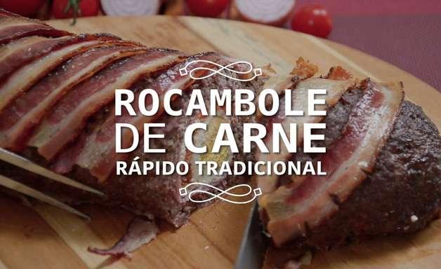 Rocambole de carne rápido e tradicional