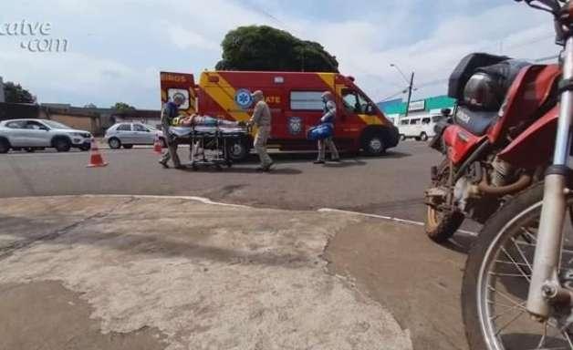 Homem fica ferido ao se envolver em acidente de trânsito em Cascavel