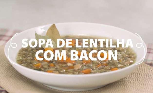 Sopa de Lentilha com Bacon Fácil e Saborosa