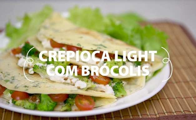 Crepioca light de brócolis