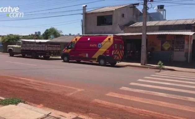 Idosa de 70 anos fica ferida em acidente de trânsito no Bairro Santa Cruz
