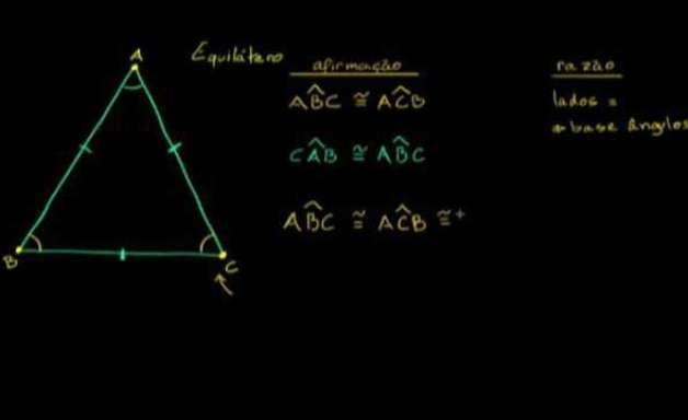 Triângulo equilátero: lados e ângulos congruentes