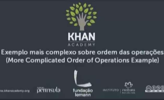 Exemplo mais complexo sobre ordem das operações