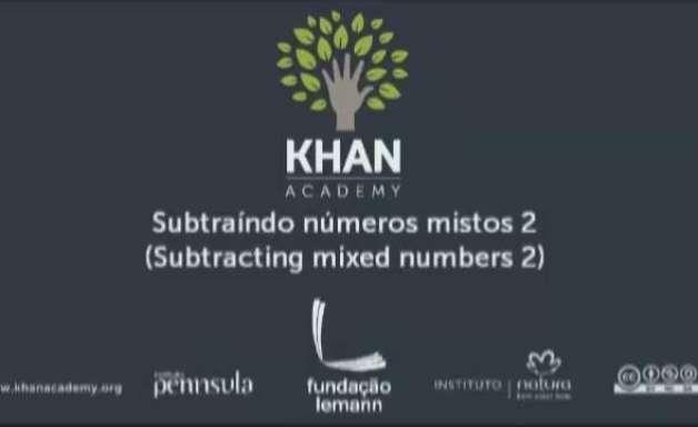 Subtraíndo números mistos 2