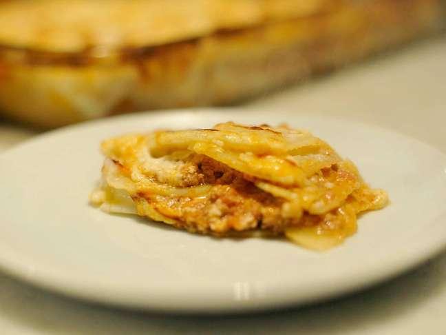 Chef Sergio Arno preparou lasanha com ingredientes baseados nos lanches do Mc Donald's