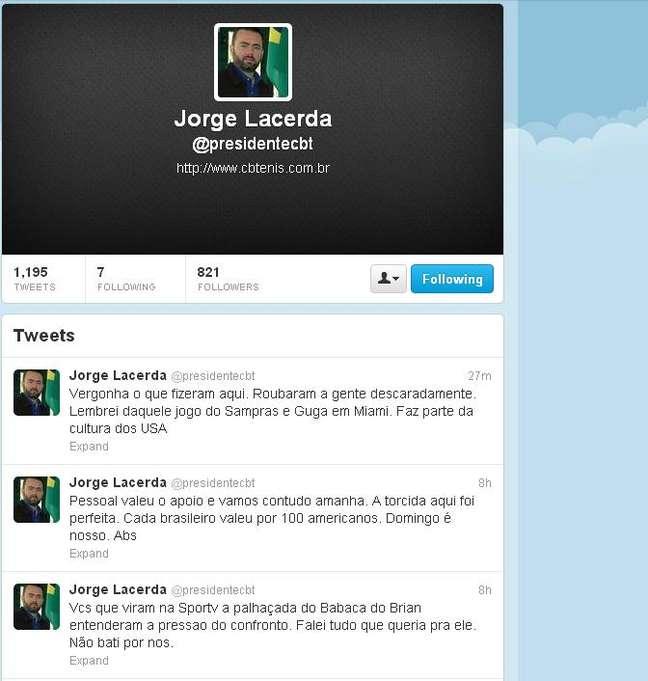Jorge Lacerda disparou contra arbitragem após lance polêmico na partida entre Isner e Bellucci
