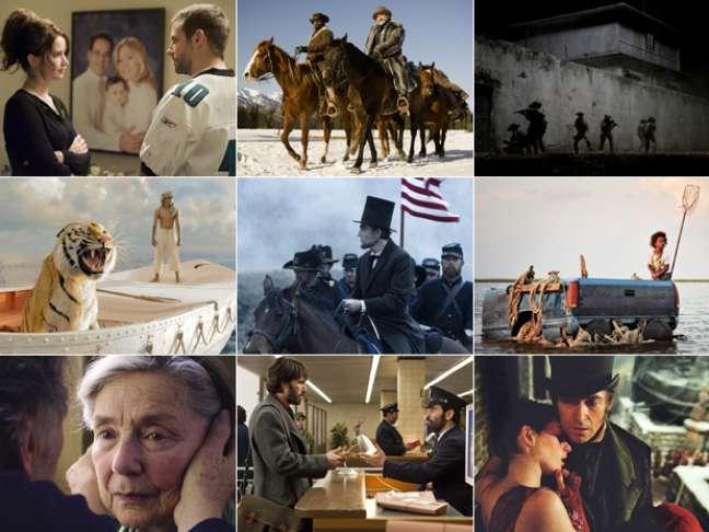 <p>Cenas das nove produções que disputam a estatua de Melhor Filme na cerimônia do Oscar 2013</p>