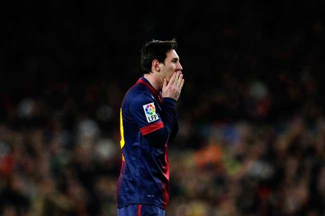 Lionel Messi teve atuação apagada no clássico espanhol