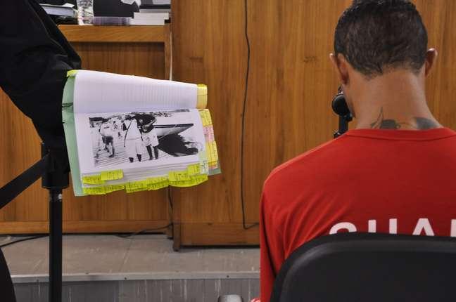 <p>O goleiro foi interrogado nesta quarta-feira durante seu julgamento</p>