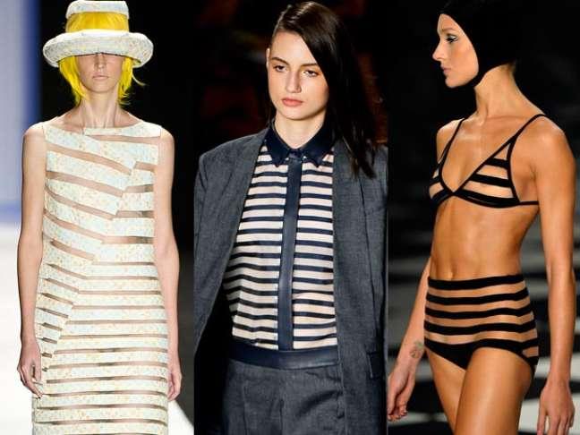 As listras apareceram na maioria das coleções desfiladas no São Paulo Fashion Week. Forte aposta para o verão, a estampa é principalmente em preto e branco, mas também tem espaço para as cores vivas e até transparências. Veja looks com listras que foram mostrados no SPFW