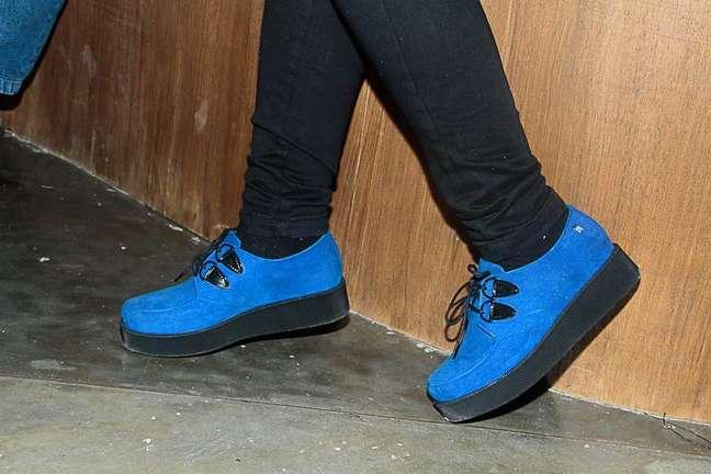 <p>Creeper shoes em versão azul, da Melissa: o sapato deve virar febre do Brasil, apostam os stylists</p>
