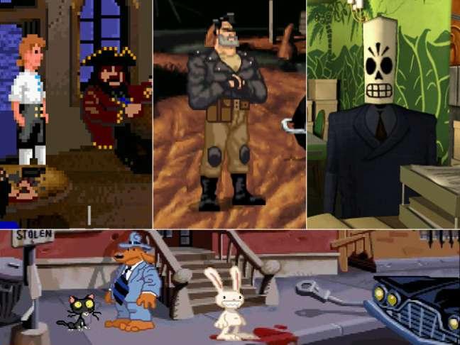 'The Secret of Monkey Island', 'Full Throttle', 'Grim Fandango' e 'Sam and Max Hit the Road' fizeram história no gênero aventura nos anos 1990