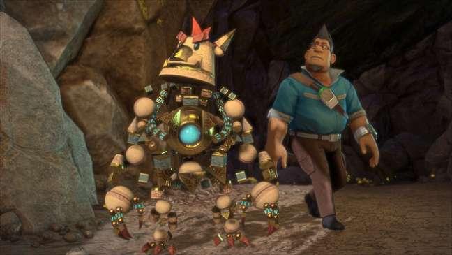 'Knack' foi apresentado no anúncio do PS4, em fevereiro, como o primeiro jogo desenvolvido internamente pela Sony