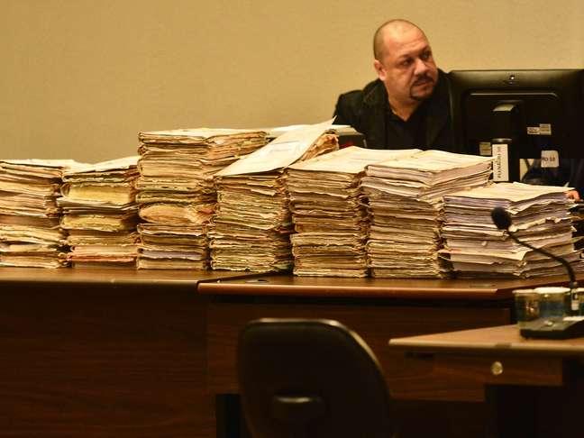 <p>Primeira etapa do julgamento do Carandiru começounesta segunda-feira no Fórum Criminal da Barra Funda (zona oeste)</p>