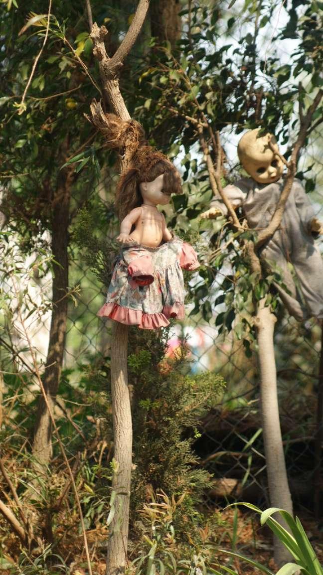 Xochimilco é uma área na zona sul da Cidade do México formada por várias ilhas que se espalham em meio a uma rede de canais. Em uma delas, a Ilha das Bonecas, surgiu uma tradição macabra: em 1952, um morador local chamado Julián Santa Ana Barrera, achou uma boneca flutuando em um dos canais. Ele pensou ser de uma menina que tinha se afogado e assombrava o lugar. Como sinal de respeito, pendurou o brinquedo em uma árvore