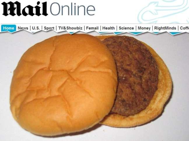 <p>Hambúrguer não apresentou sinais de mofo ou odor de estragado</p>