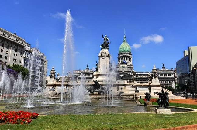 A Plaza del Congreso, construída no começo do século 20, é um dos símbolos do tempo em que a capital argentina era uma das cidades mais prósperas do planeta