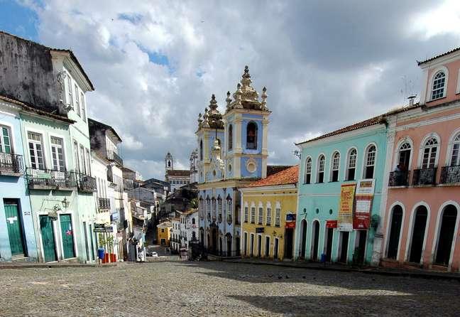 <p>O Pelourinho é um dos principais pontos turísticos da cidade</p>