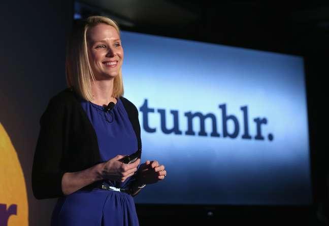 <p>Marissa Mayer assumiu o Yahoo! h&aacute; 1 ano</p>