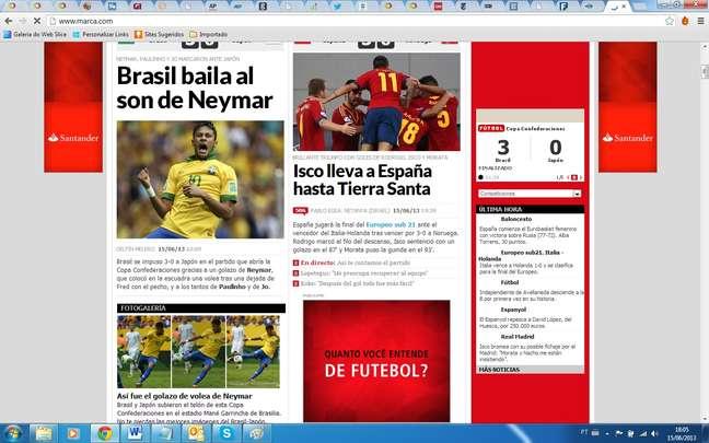 Jornal Marca exaltou atuação do novo jogador do Barcelona