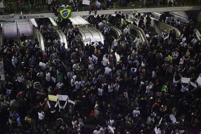 <p>A prefeitura de São Paulo reforçou a segurança da Guarda Civil Metropolitana no novo protesto desta noite</p>