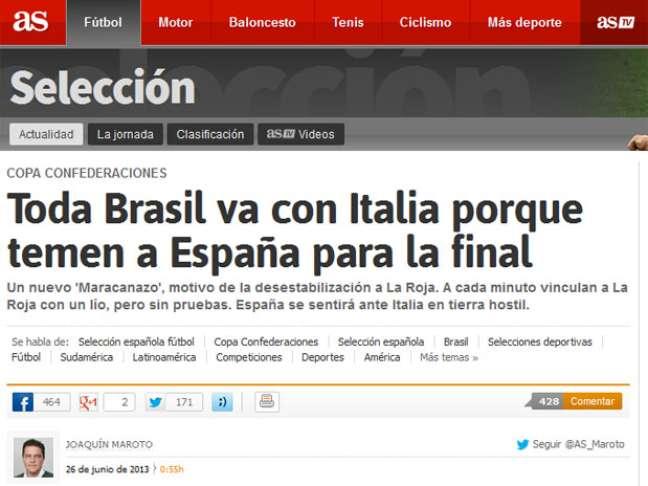 <p>Imprensa espanhola adotou tese conspiratória: Brasil tem medo de final contra a Espanha</p>