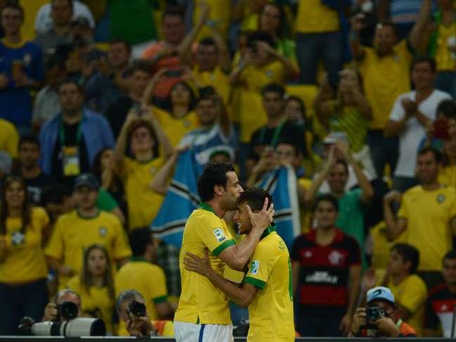 <p>Fred e Neymar se destacaram na vitória brasileira</p>