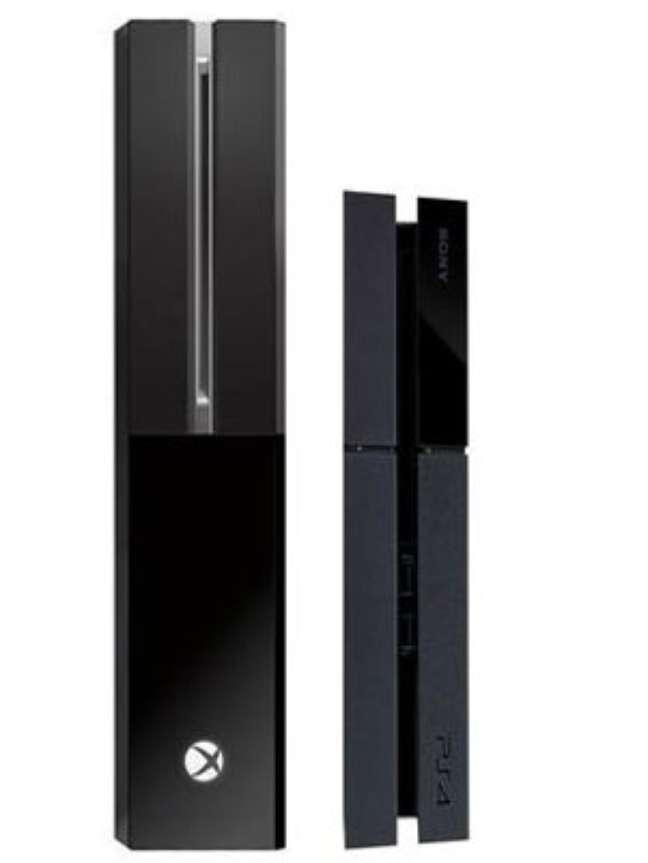 Na imagem, um comparativo entre o Xbox One e o PS4