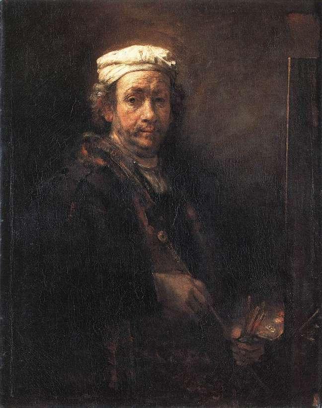 Último auto-retrato de Rembrandt data de 1969, ano de sua morte