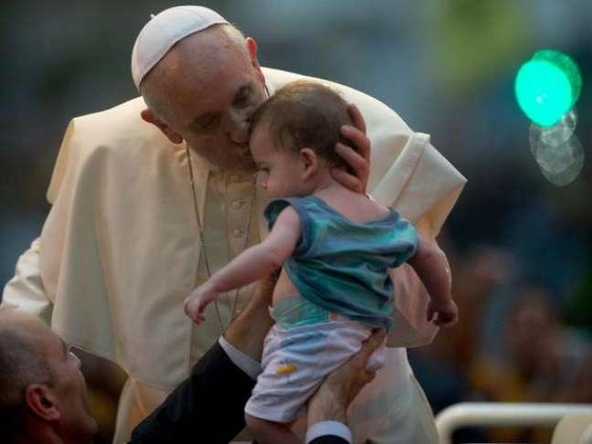 <p>Papa Francisco chegou ao Brasil na última segunda-feira</p>