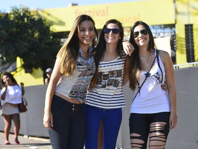 As amigas Laís Cardoso, Rayla Lage e Jéssica Alencar