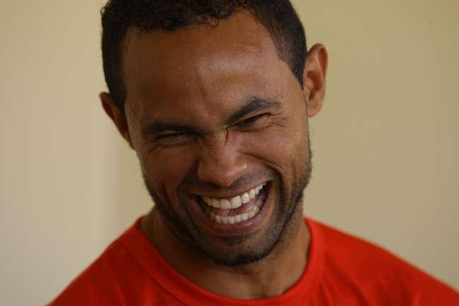 <p>O ex-goleiro do Flamengo em entrevista na manhã deste domingo na Penitenciária de Segurança Máxima Nelson Hungria</p>