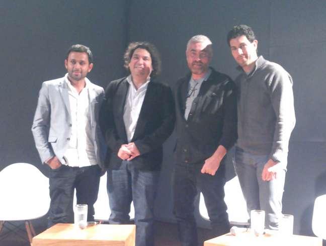<p>Chefs Dagoberto Torres, Gastón Acuro, Alex Atala e Rodrigo Oliveira falam da importância social da culinária</p>