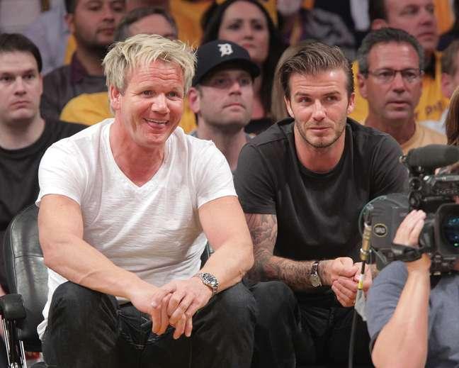 <p>Gordon Ramsay (esq.) e David Beckham (dir.) desistem de parceria gastronômica</p>