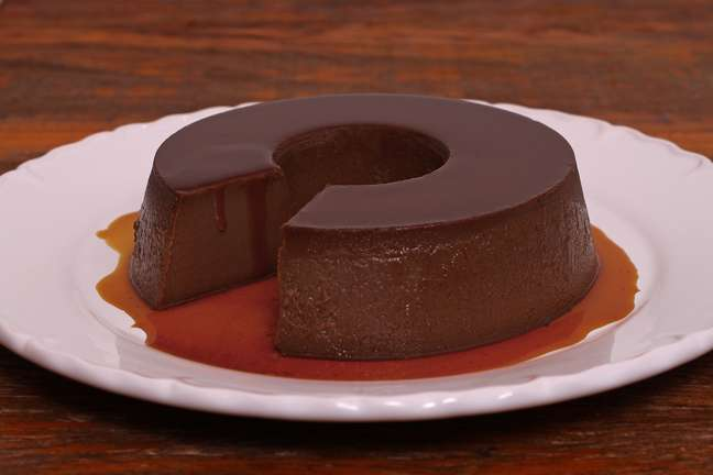 <p>Pudim de chocolate</p>