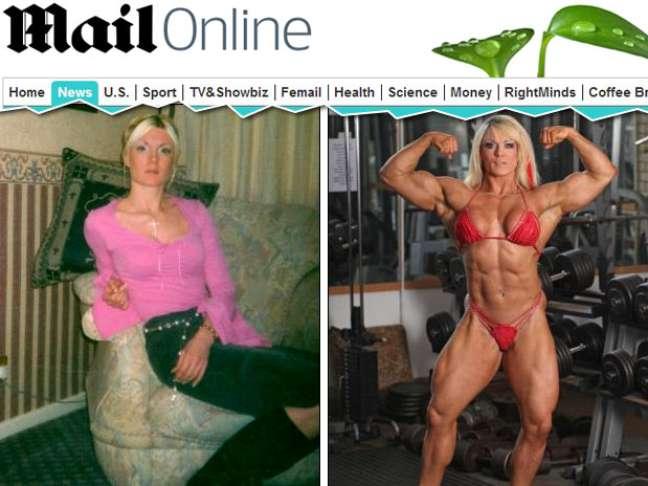 <p>Lisa começou a levantar pesos e em 2007 foi assistir a uma competição de fisiculturistas em Los Angeles</p>